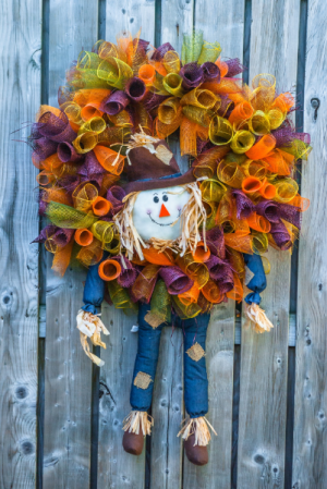 Scarecrow Wreath Seasonal Wreath in Corner Brook, NL | The Orchid