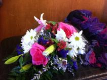 Scarf & Flower  Wrap