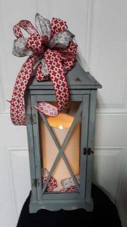 Scarlet and Grey my team colors floor style very large lantern
