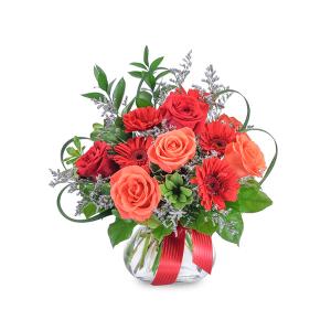 Scarlet Flame Arrangement in Saint Louis, MO | Irene's Floral Design