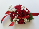 Scarlet Red Corsage