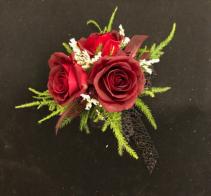 Scarlet Romance Petit Red Rose Wrist Corsage