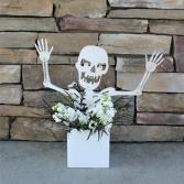 Scary Skeleton Halloween Arrangement