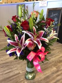 Scented Beauty  Vase Arrangement