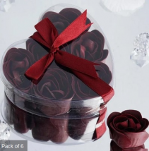 Scented Rose Soap Gift Box - Burgundy Add-on