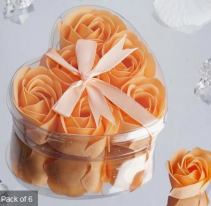 Scented Rose Soap Gift Box - Peach Add-on