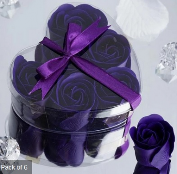 Scented Rose Soap Gift Box - Purple Add-on