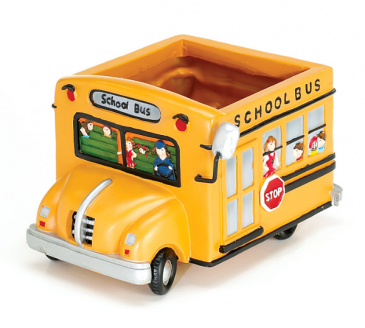 School Bus Planter * Fine Gifts