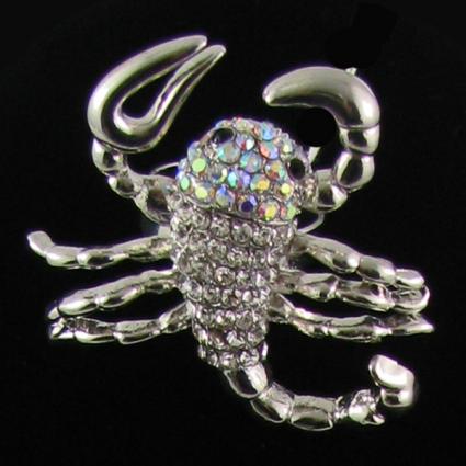 Scorpio Ring Crystal Jewelry