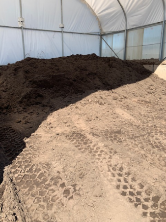Screened Pulverized Topsoil Sold by the yard. Choose pick up at store