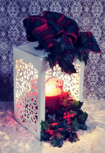 Scroll Candle Warmer Lantern