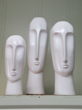 Sculpted Head Home Decor