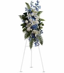 "SEA BREEZE SPRAY STANDING FUNERAL PC ON A 5'-6"" STAND"