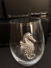 Sea Horse Stemless Glass
