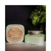 Sea Salt & Lotus Bath Bomb Jar Waveland Candle Company