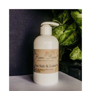 Sea Salt & Lotus Goat Milk Lotion  Waveland Candle Company
