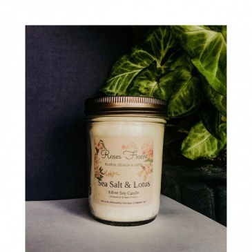 Sea Salt & Lotus Soy Candle  Waveland Candle Company