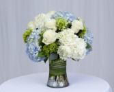 Seabreeze Rose and Hydrangea Mix Vase Arrangement