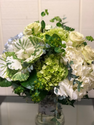 Seabreeze with a Twist Vase Arrangement in Fairfield, CT | Blossoms at Dailey's Flower Shop