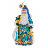 Seas The Day Santa  Christopher Radko Ornament