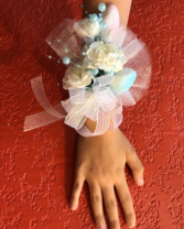 Seashells and Bubbles Wrist corsage
