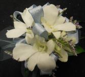 Seaside Blue Orchids Wristlet-Corsage