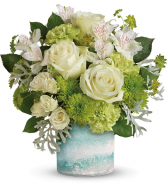 Seaside Roses Bouquet All-Around Floral Arrangement