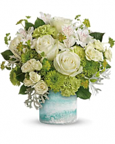 Seaside Roses Bouquet Fresh Arrangement