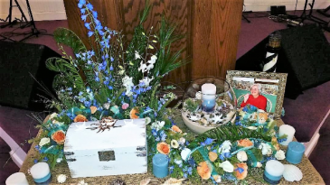 Seaside Serenity Cremation/Memorial Urn and accessories not included