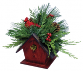 Seasonal Birdhouse Can Be Shipped UPS