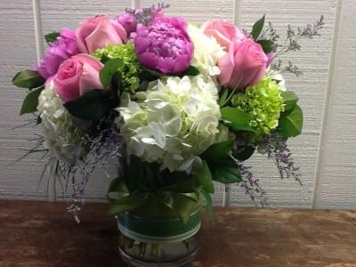 Seasonal Cylinder Vase Vase Arrangement