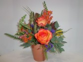 Seasonal Fall Flower Pot Signature Design