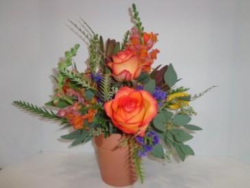 Seasonal Fall Flower Pot Signature Design