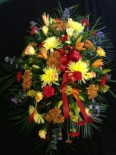 Seasonal Fall Sray Funeral Flowers