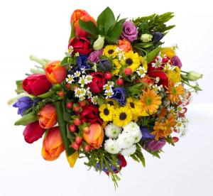 Seasonal Garden  Hand-Tied Bouquet in Chatham, NJ | SUNNYWOODS FLORIST