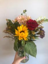 Seasonal Mason Jar Flower Arrangement