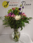 Gen-Seasonal Mix colors & flowers as available in a mixed bouquet