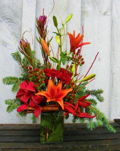Seasonal Spice  Fresh flower arrangement  in Ithaca, NY | BUSINESS IS BLOOMING