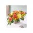 seasonal sunset centerpiece floral arrangement