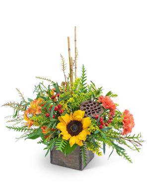 Seasons Change Flower Arrangement in Nevada, IA | Flower Bed