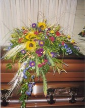 Seasons Fall Colors Casket Spray Casket Spray