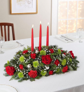Season's Greeting Centerpiece Christmas