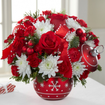 SEASONS GREETING ORNAMENT BOUQUET
