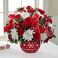 Season's Greeting Ornament  Christmas Arrangement