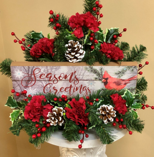 Season's Greetings 2 gifts in 1 in Springfield, IL | FLOWERS BY MARY LOU