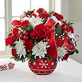 Season's Greetings Bouquet Christmas Arrangement