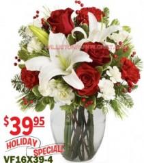 Season's Greetings Bouquet Christmas Flowers