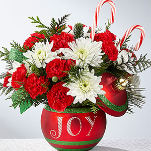 Season's Greetings Bouquet Holiday Floral Arrangement