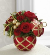 Season's Greetings Holiday Keepsake Arrangement