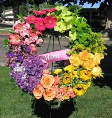 Seasons of Life Wreath standing spray